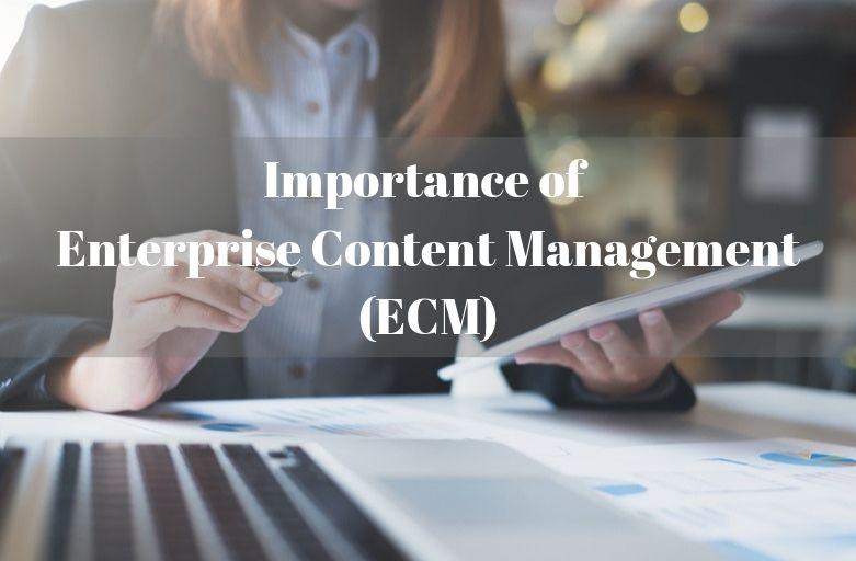 Importance of Enterprise Content Management (ECM)